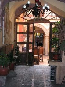 A small restaurant in Patzcuaro
