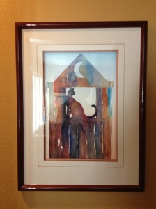 This is a Lucinda painting, and doesn't it look fabulous on the freshly painted wall in the hall?