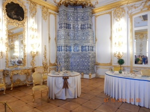 One of many dining rooms in the winter palace.