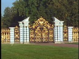 Gates of the Summer Palace in St. Petersburg
