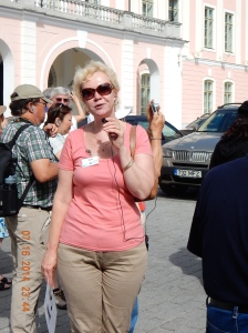 Anu our tour guide in Tallinn, Estonia