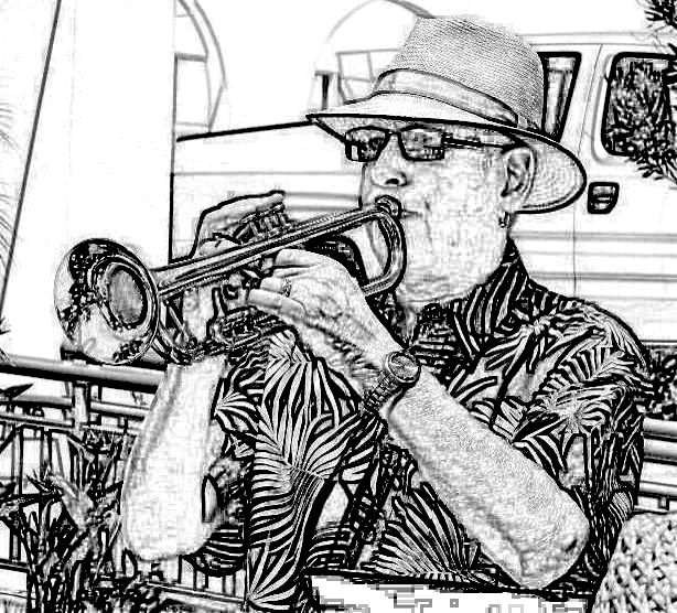 Les and his trumpet!