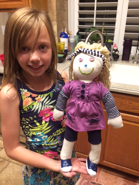 Doll clothes for the rag doll we made.