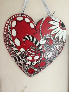 Birthday heart made for Maxine Custer