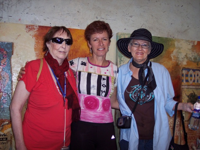 Barbara, Karin, myself San Miguel de Alliente, Mexico 2009