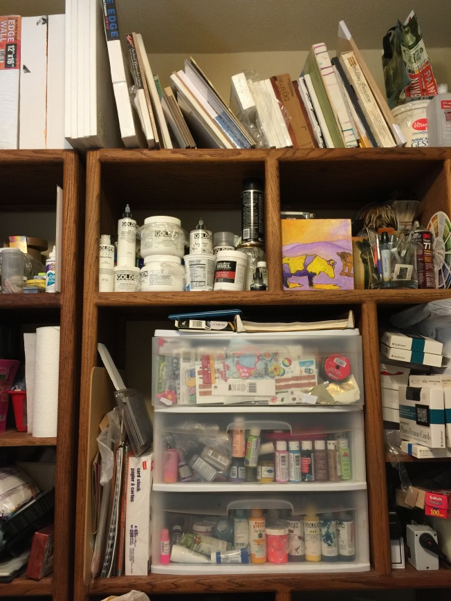 Part of my studio, the organized part!