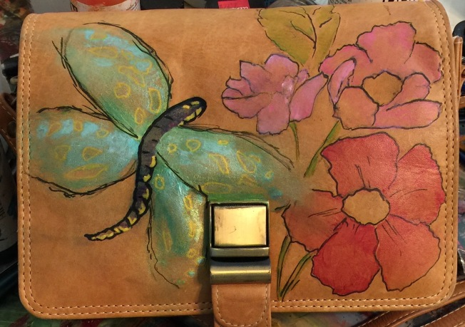 Paint on leather